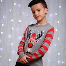 KIDS REINDEER JUMPER